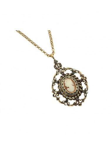 Cameo Necklace on Baroque Frame by Alcozer & J Florence