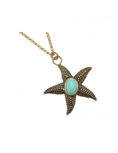 Starfish Necklace with Magnesite Heart by Alcozer & J Florence