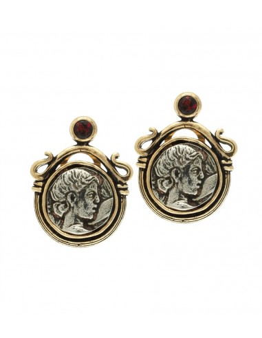 Silver Coin Earrings by Alcozer & J Florence