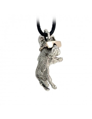 French Bulldog with Sunglasses Pendant by Cristian Fenzi Florence Italy
