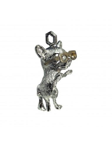 Chihuahua with Glasses Pendant by Cristian Fenzi Florence Italy
