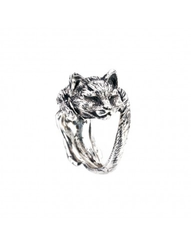 Cat with Closed Eyes Ring