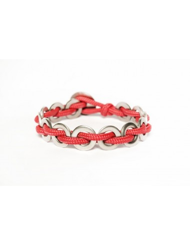 Flatmoon Bracelet - Red Stainless made by Svitati by Sara Rizzardi