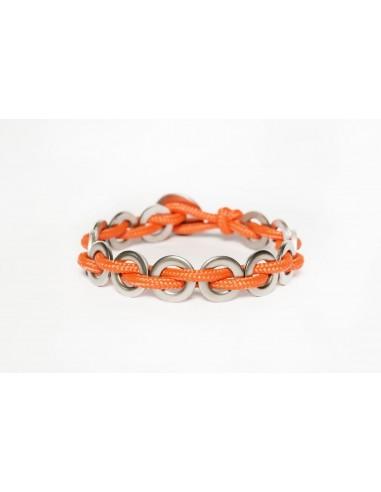 Bracciale Flatmoon - Arancio Inox realizzato da Svitati di Sara Rizzardi