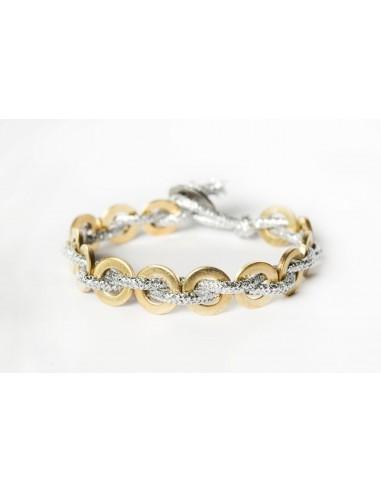 Flatmoon bracelet Lamé Silver - Brass made by Svitati by Sara Rizzardi