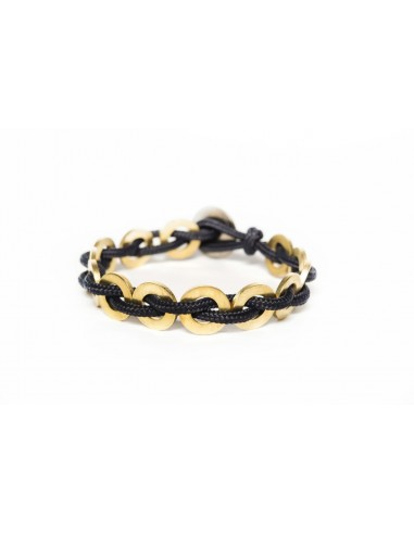 Flatmoon bracelet Dark Blue - Brass made by Svitati by Sara Rizzardi
