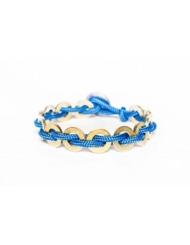 Flatmoon bracelet Light Blue - Brass made by Svitati by Sara Rizzardi