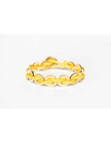 Flatmoon bracelet Yellow - Brass made by Svitati by Sara Rizzardi