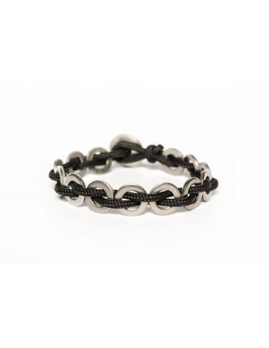 Flatmoon Bracelet - Black Stainless made by Svitati by Sara Rizzardi