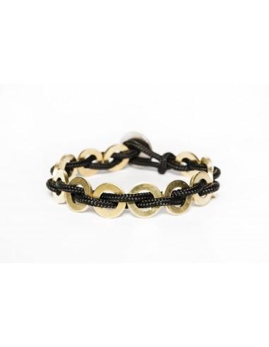 Flatmoon bracelet Black - Brass made by Svitati by Sara Rizzardi