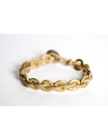 Flatmoon bracelet Hazelnut - Brass made by Svitati by Sara Rizzardi