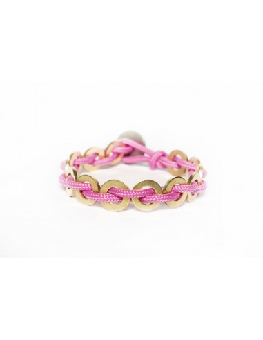 Flatmoon bracelet Pink - Brass made by Svitati by Sara Rizzardi