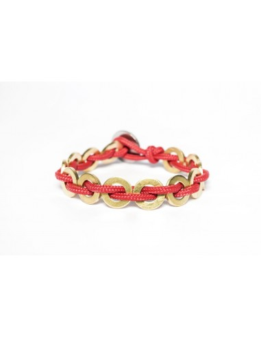 Flatmoon bracelet Red - Brass made by Svitati by Sara Rizzardi