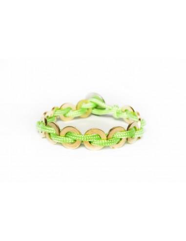 Flatmoon bracelet Lime Green - Brass made by Svitati by Sara Rizzardi