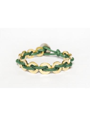 Flatmoon bracelet Forest Green - Brass made by Svitati by Sara Rizzardi
