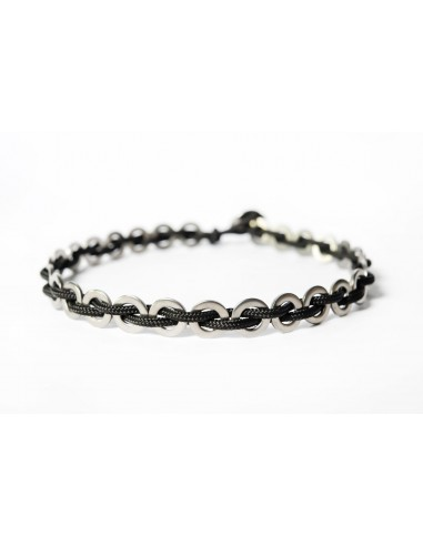 Flatmoon Black - Stainless steel necklace made by Svitati by Sara Rizzardi