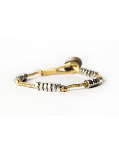 Dadolini Lamè Gold - Stainless steel bracelet made by Svitati by Sara Rizzardi