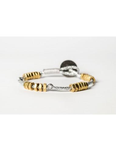 Dadolini Lamè Silver - Brass Bracelet made by Svitati by Sara Rizzardi