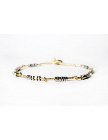 Dadolini Lamè Gold - Stainless steel necklace made by Svitati by Sara Rizzardi