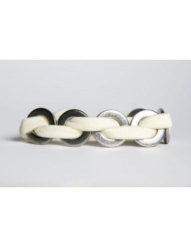 MAXI Lycra Bracelet - White