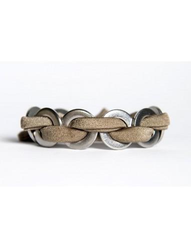Bracciale Maxi Tortora - Lycra/Inox realizzato da Svitati di Sara Rizzardi