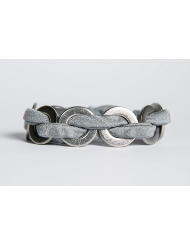 Maxi bracelet Grey - Lycra/Inox made by Svitati by Sara Rizzardi