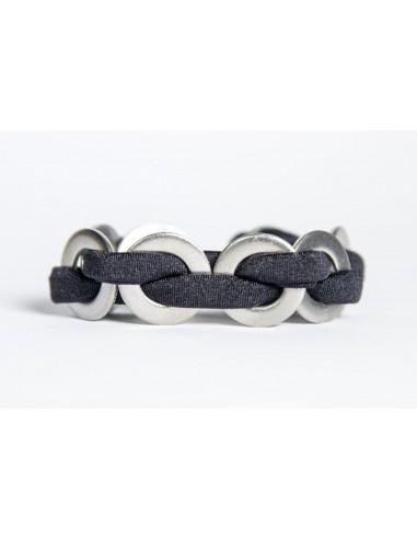 Maxi bracelet Black - Lycra/Inox made by Svitati by Sara Rizzardi