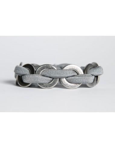 MAXI Silk Bracelet - Grey