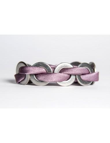 Bracciale Maxi Glicine - Seta/Inox realizzato da Svitati di Sara Rizzardi