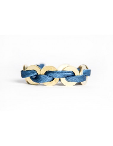Navy Maxi Bracelet - Silk / Brass made by unscrewed by Sara Rizzardi