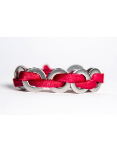 MAXI Silk Bracelet - Red