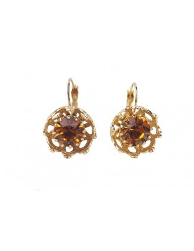 Crown Earrings - Topaz