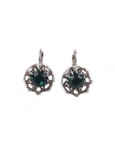 Crown Earrings - Emerald
