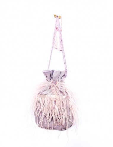 Wisteria Pouch with Ostrich Feathers by P.M. Post Meridiem Italy