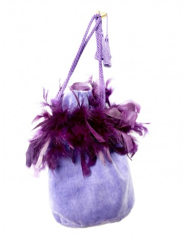 Wisteria Pouch with Cock Feathers by P.M. Post Meridiem Italy