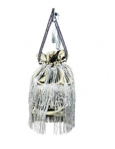 Silver Pouch with Fringe by P.M. Post Meridiem Italy