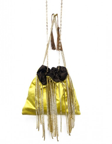 Yellow Pouch with Fringe by P.M. Post Meridiem Italy