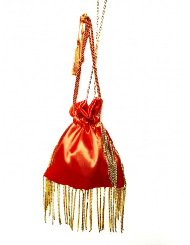 Orange Pouch with Fringe by P.M. Post Meridiem Italy