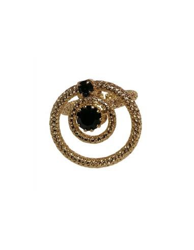 Anello Delight Circle Nero realizzato da Monnaluna Firenze