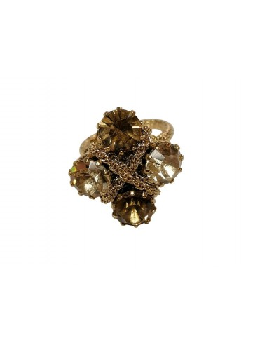 Crystals Braid Ring - Gold by Monnaluna Florence Italy