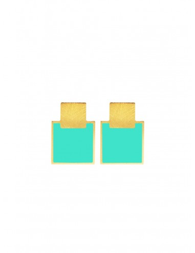 Mini Q Earrings - Turqoise