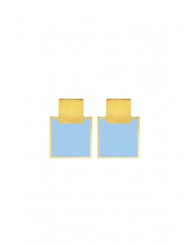 Orecchini Mini Q Azzurro di Francesca Bianchi Design Arezzo 1