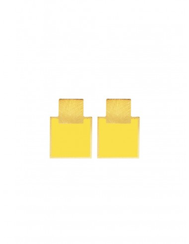 Mini Q Earrings - Yellow