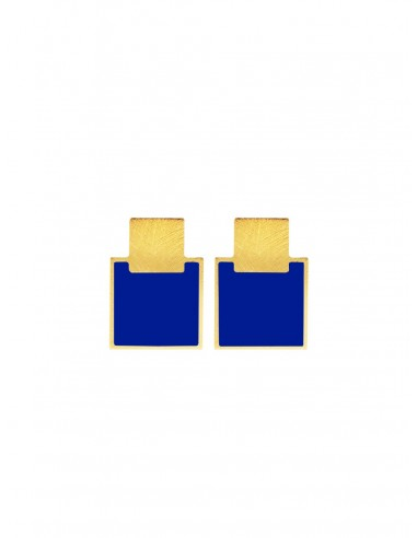Mini Q Earrings - Electric Blue  by Francesca Bianchi Design Arezzo Italy 1