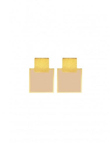 Mini Q Earrings - Cream