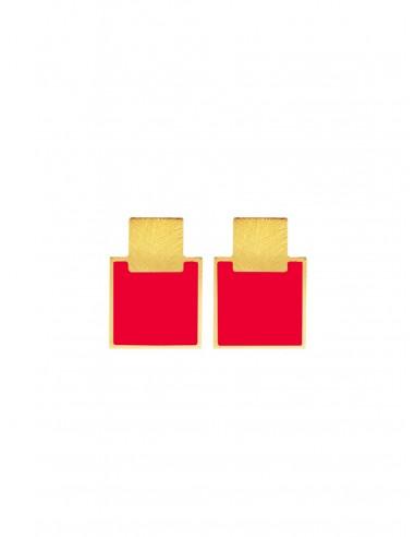 Mini Q Earrings - Red