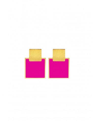 Mini Q Earrings - Fuchsia by Francesca Bianchi Design Arezzo Italy 1
