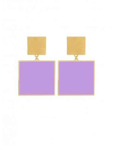 Orecchini Quadrato lilla di Francesca Bianchi Design Arezzo 1