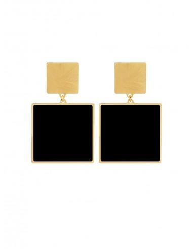 Orecchini Quadrato nero di Francesca Bianchi Design Arezzo 1
