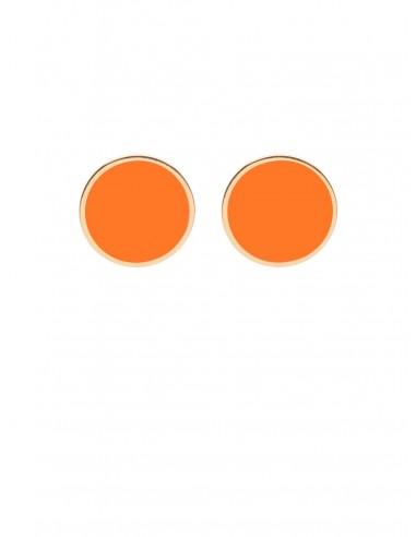 Orecchini Tappabuco arancio di Francesca Bianchi Design Arezzo 1